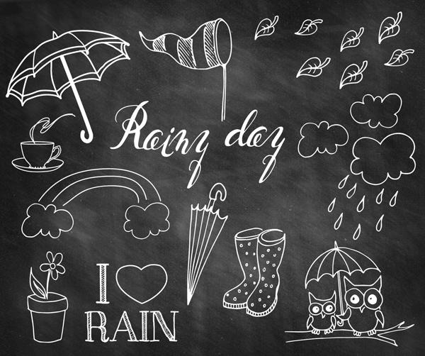 Rainy Fall Wallpaper Rainy Day Doodle Chalkboard Overlays