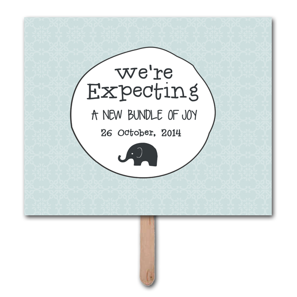 We\u0027re Expecting Pregnancy Announcement Photo Prop Template