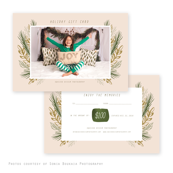Holiday Joy Gift Certificate Template (4×6)