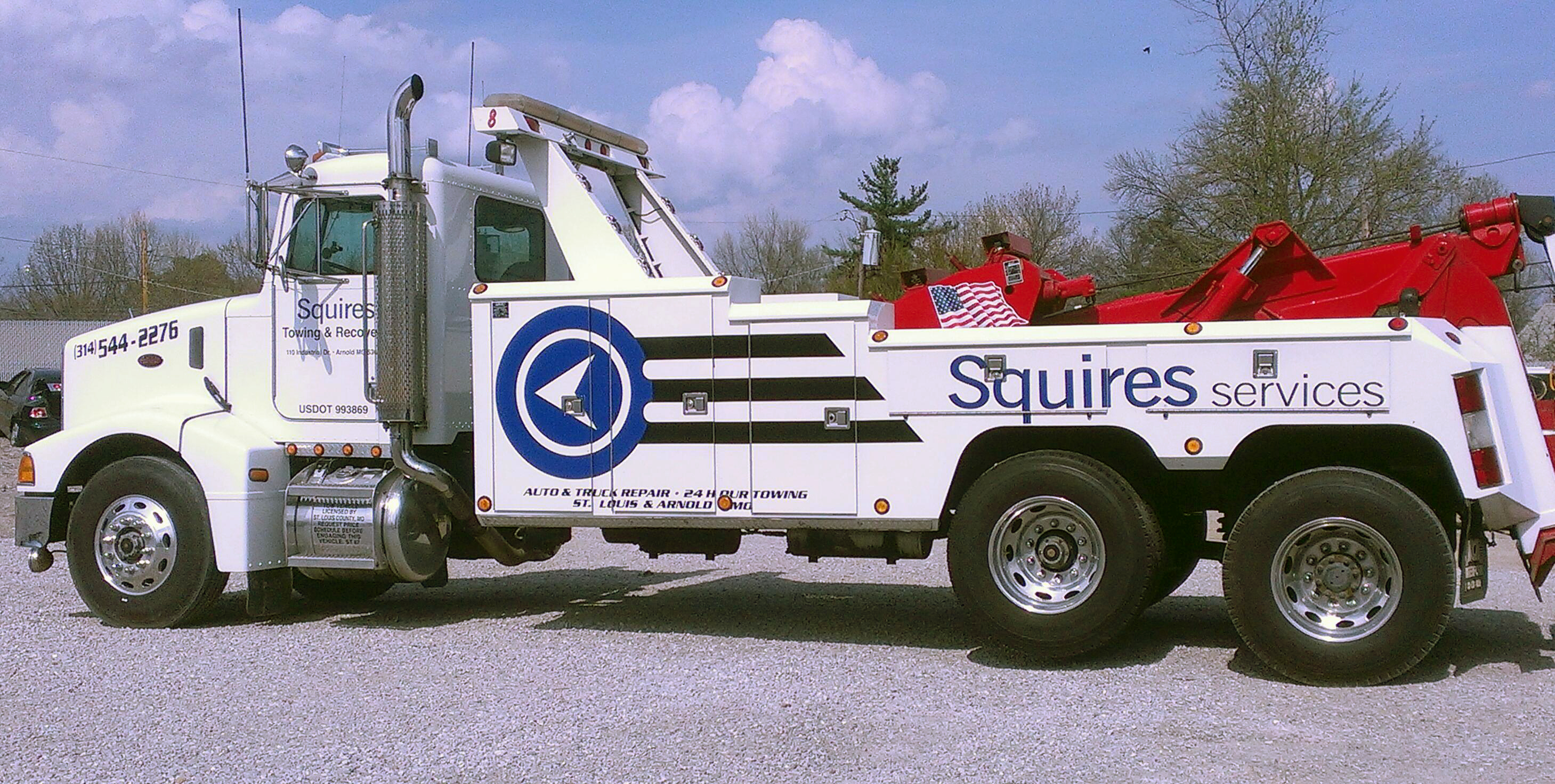 Tow Truck Towing Auto Repair And Maintenance Squires Services