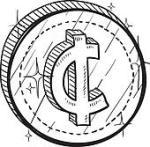 Cent Symbol Clip Art Black And White