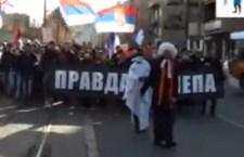 Протест студената у Београду (видео)