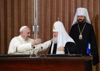 Papa Francisko patrijarh Kiril mitropolit Ilarion