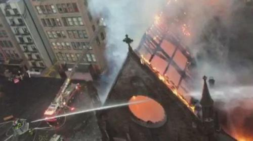 Njujork srpska crkva u plamenu