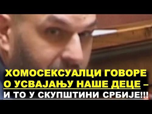 Хомосексуалци у Скупштини Србије о усвајању деце