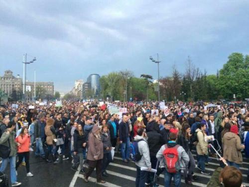Протести у Београду 2017 трећи дан