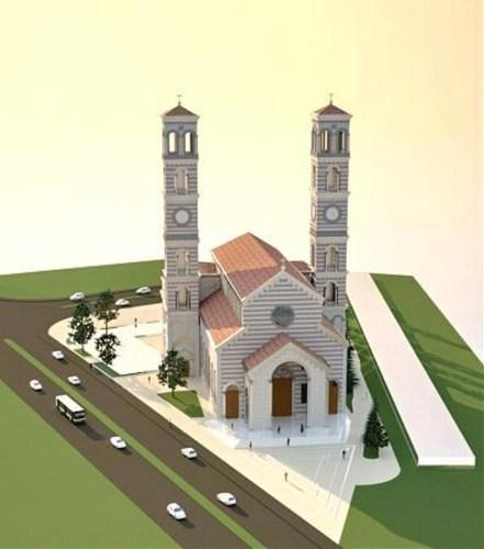 Католичка црква Мајке Терезе у Приштини још није завршена. Два звоника кад буду завршена имаће висину од 65 метара [800x600]
