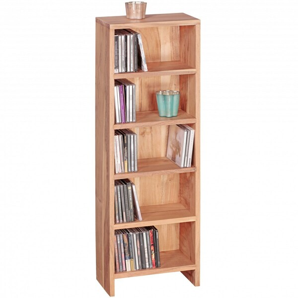 Wohnling Cd Regal Massivholz Akazie Standregal 90 Cm Hoch