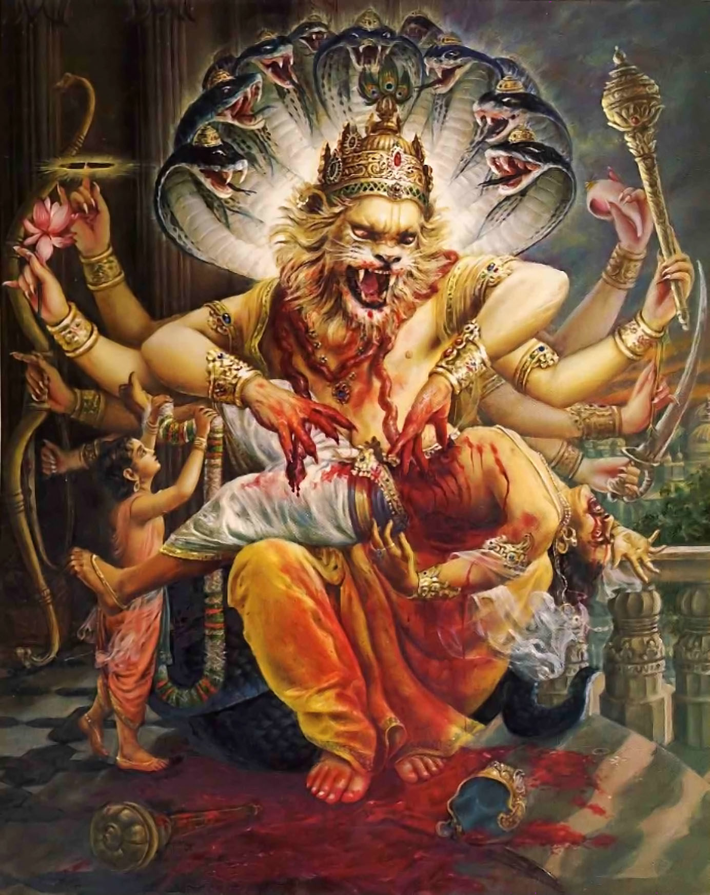 Lord Vishnu 3d Live Wallpaper Nrsimha The Hare Krishna Movement