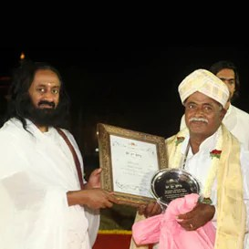 Bestowing Sri Sri Award on Sri A. Nagaraju