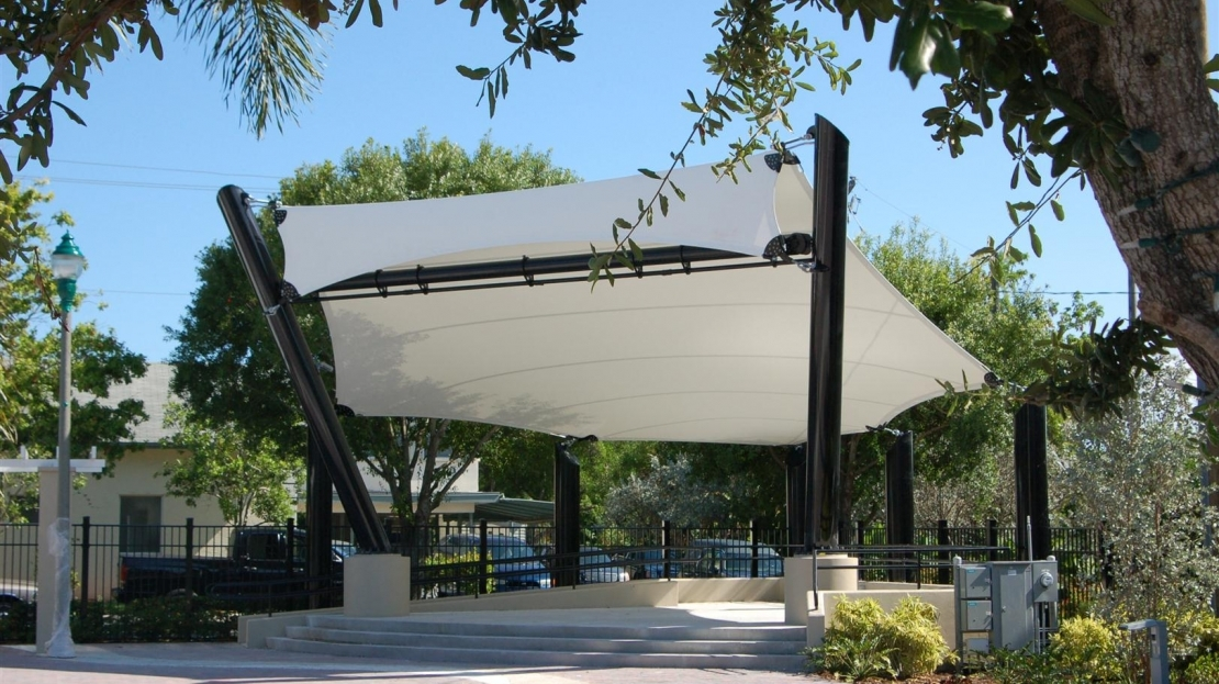 Skyline Plaza Restaurant Parks & Recreation Structures | Park Shade Canopies