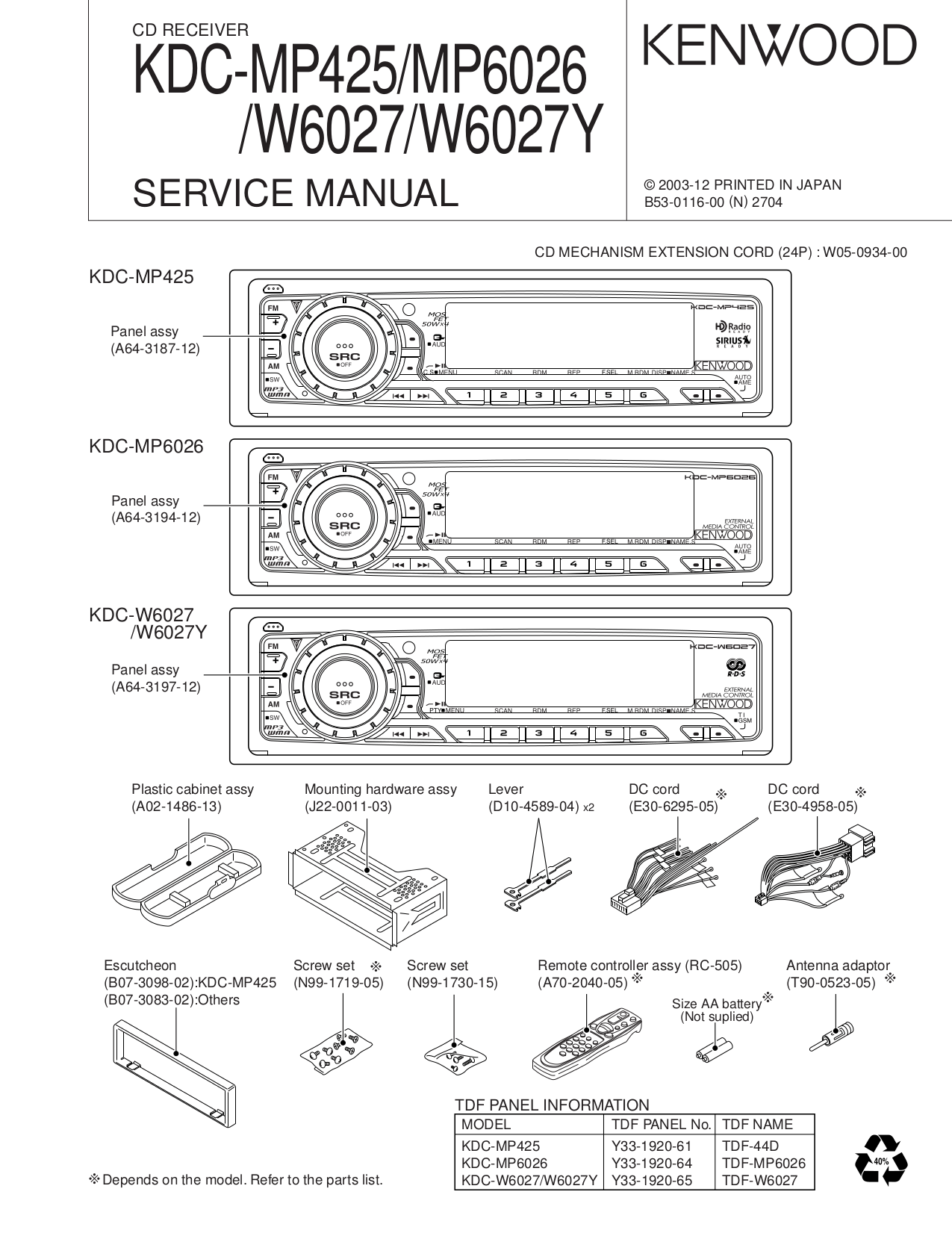 a car stereo wiring diagram for kenwood mp 425