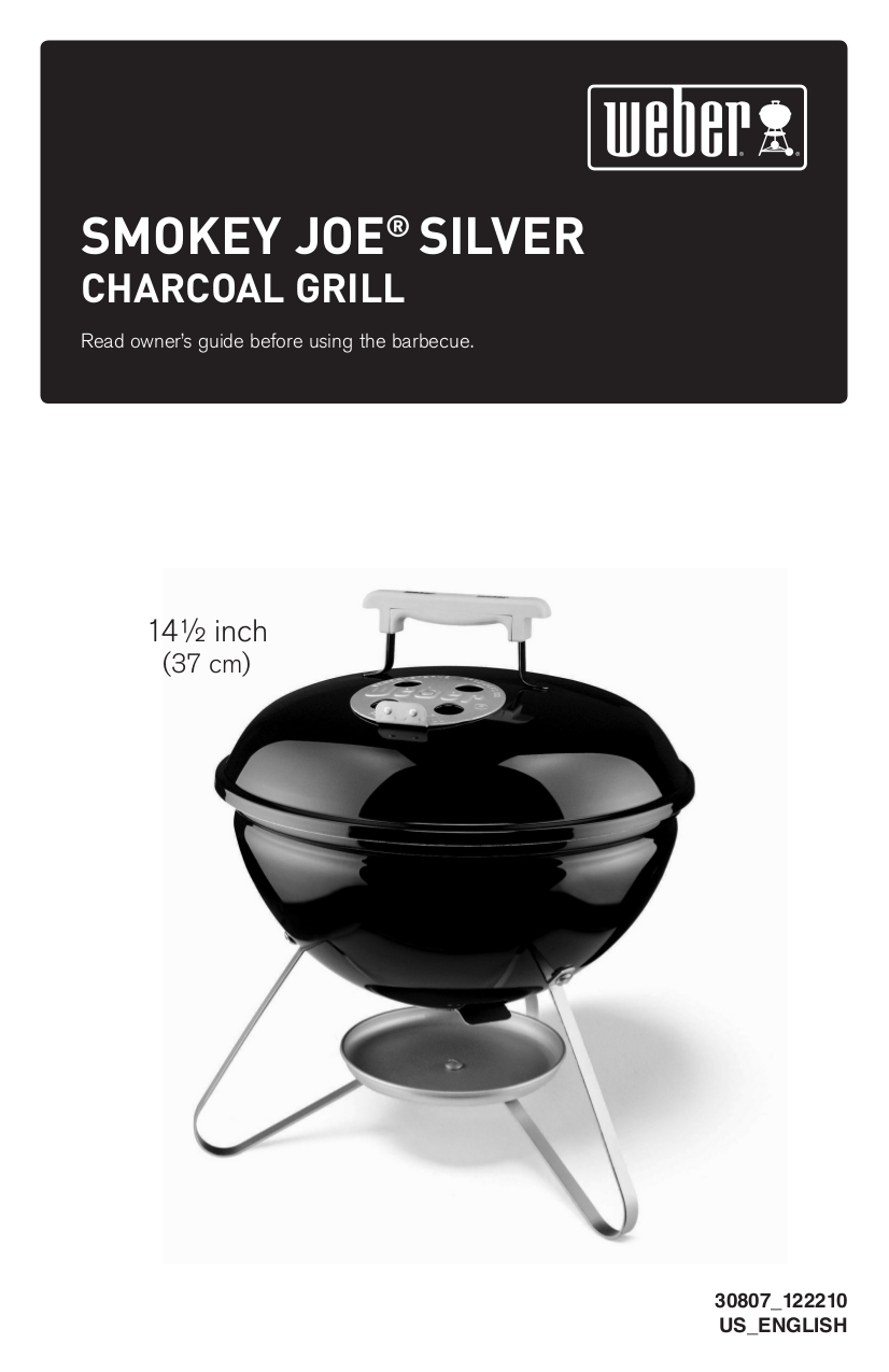 Weber Handleiding Download Free Pdf For Weber Smokey Joe Grill Manual