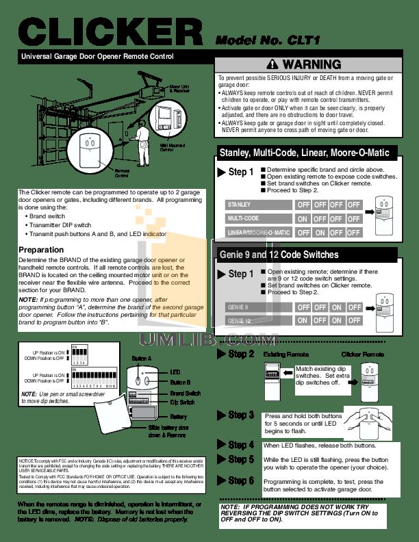 chamberlain garage door opener manual pdf