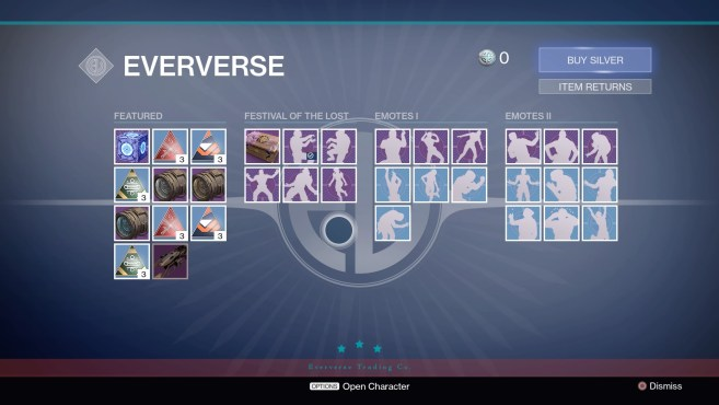 Various New Eververse items