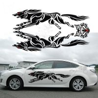 Lifelike 3D Creative Running Unique Strong Wolf Car Body ...