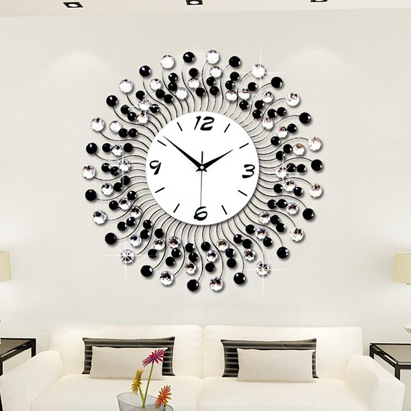 Modern Classic Living Room Diamond Decorative Wall Clock - living room clock