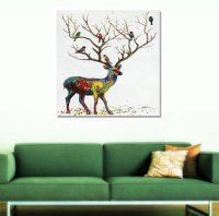 New Arrival Oil Painting Deer Hand Painted Wall Art Prints ...