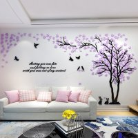 Trees and Birds Pattern Acrylic Eco-friendly Waterproof ...