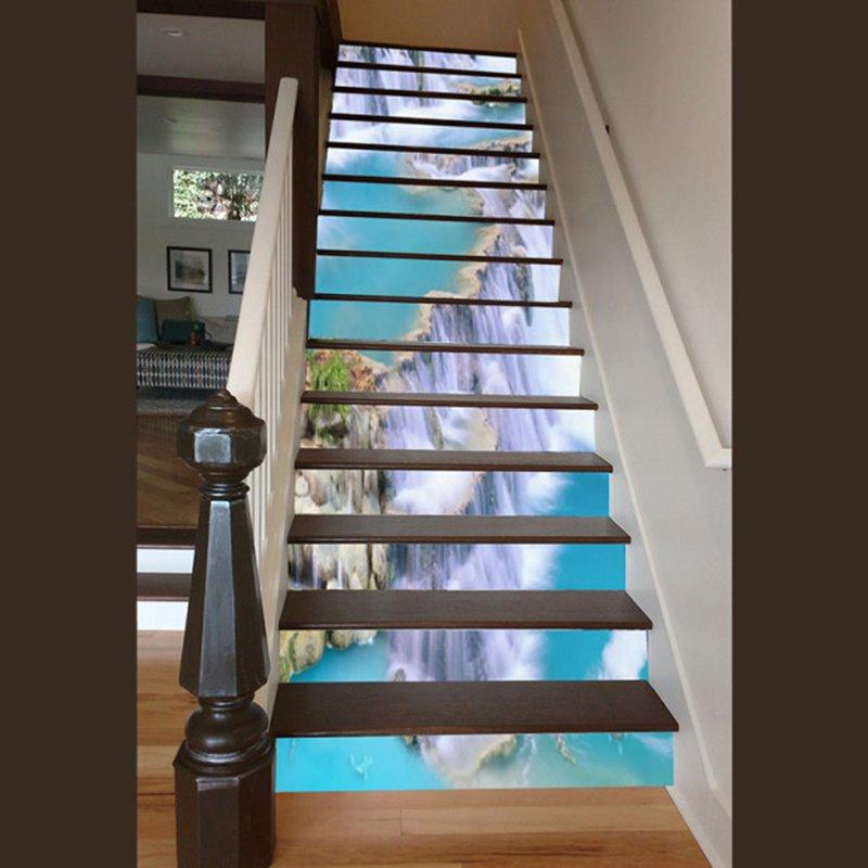 Incredible Design Waterfall Scenery Pattern Waterproof