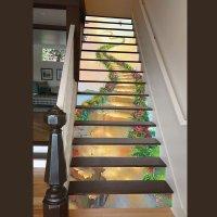 Vivid Unique Design Ladder to Heaven Pattern Waterproof ...