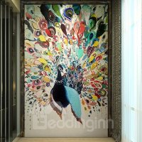 Colorful Peacock Pattern PVC Waterproof and Durable 3D ...