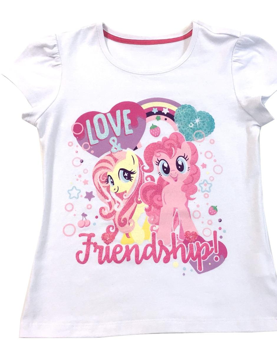 Playeras Decoradas Playera My Little Pony Algodón Para Niña