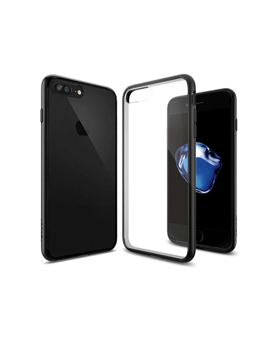 Plus Ultra Seguros Hogar Telefono Funda Para Iphone 7 Plus Ultra Hybrid Spigen Negra