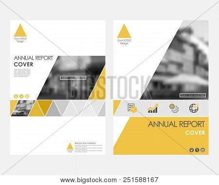 🔥 Yellow Infographic Cover Design Template For Annual Report