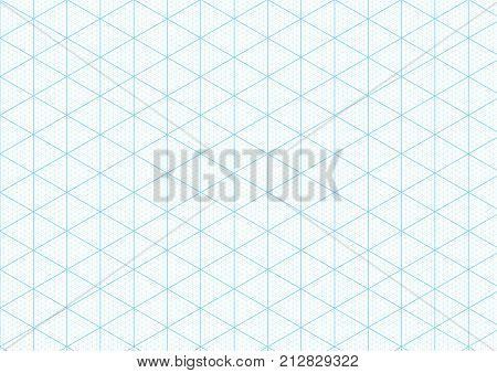 ▷ Isometric Graph Paper Background Plotting Triangular Vector Ruler