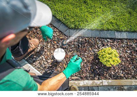 💥 Adjusting Lawn Sprinkler By Professional Garden Irrigation