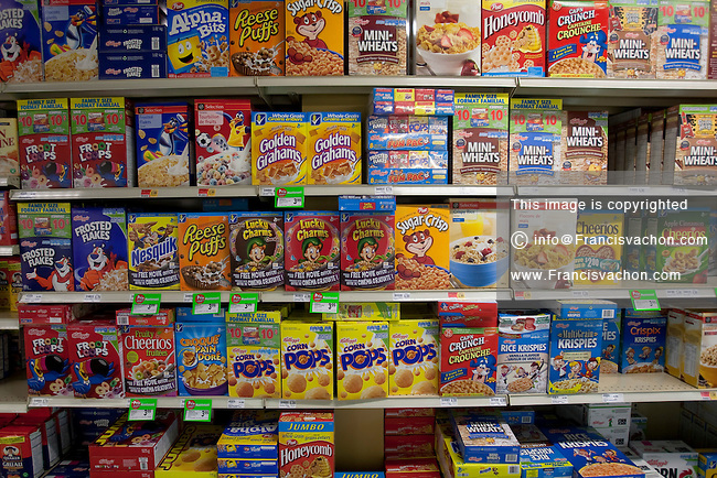 Cereal In The Breakfast Aisle Stock Photos By Francis Vachon