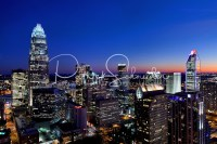 Close-in photo of Charlotte NC skyline at sunset   Patrick ...