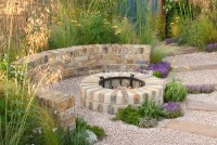 Patio plantings, fireplace with pretty light | Plant ...