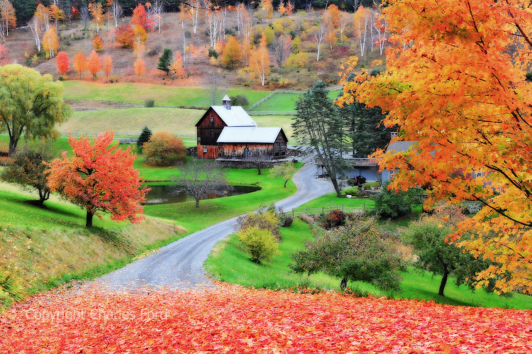 Fall In New England Wallpaper Fall Foliage At Farm Along Cloudland Road Vermont