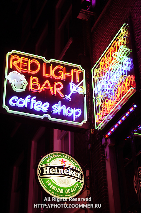 Coffee Shop And Bar In Red Light District Amsterdam Travel Stock Photos - I Store Amsterdam