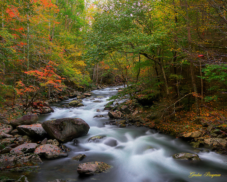 Fall Waterfall Wallpaper Hf The Long And Winding Flow Smoky Mountain Photography By