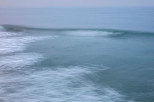 Pacific Ocean Waves in Fog, Venice Beach, California Living