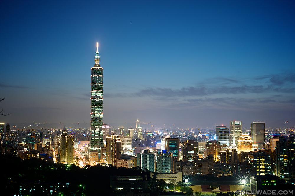 Skyscraper Wallpaper Hd Taiwan Taipei Skyline Night Lights Jpg Neil Wade Photography