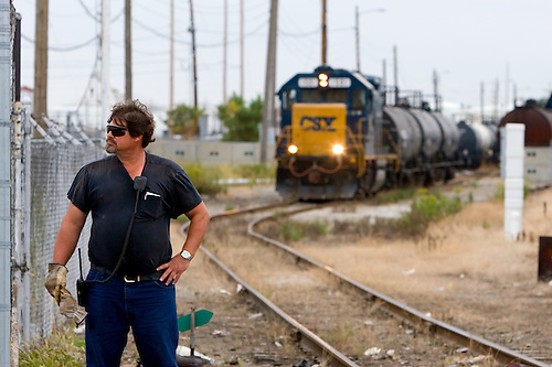 CSX Freight Train Conductor Photography by Nick Suydam