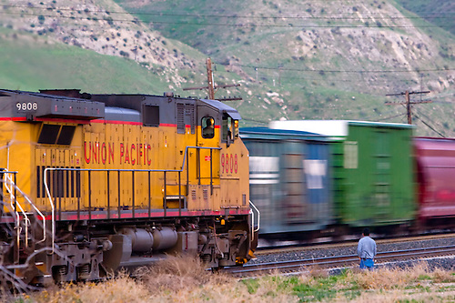 Union Pacific Freight Train Meet Photography by Nick Suydam - frieght conductor