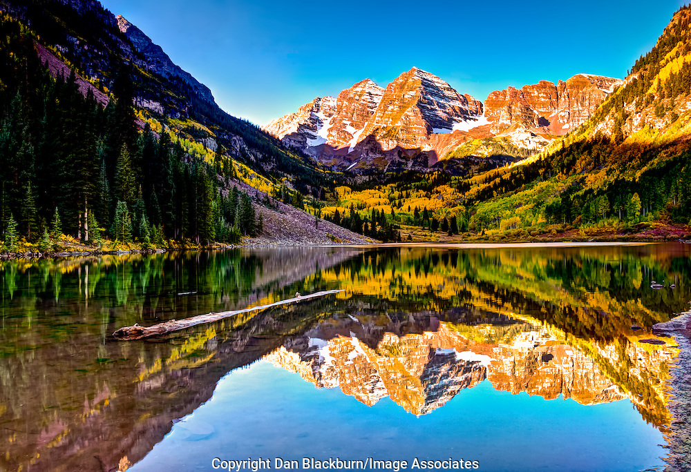 4k Fall Mountain Wallpaper Maroon Bells Reflected In Maroon Lake At Sunrise
