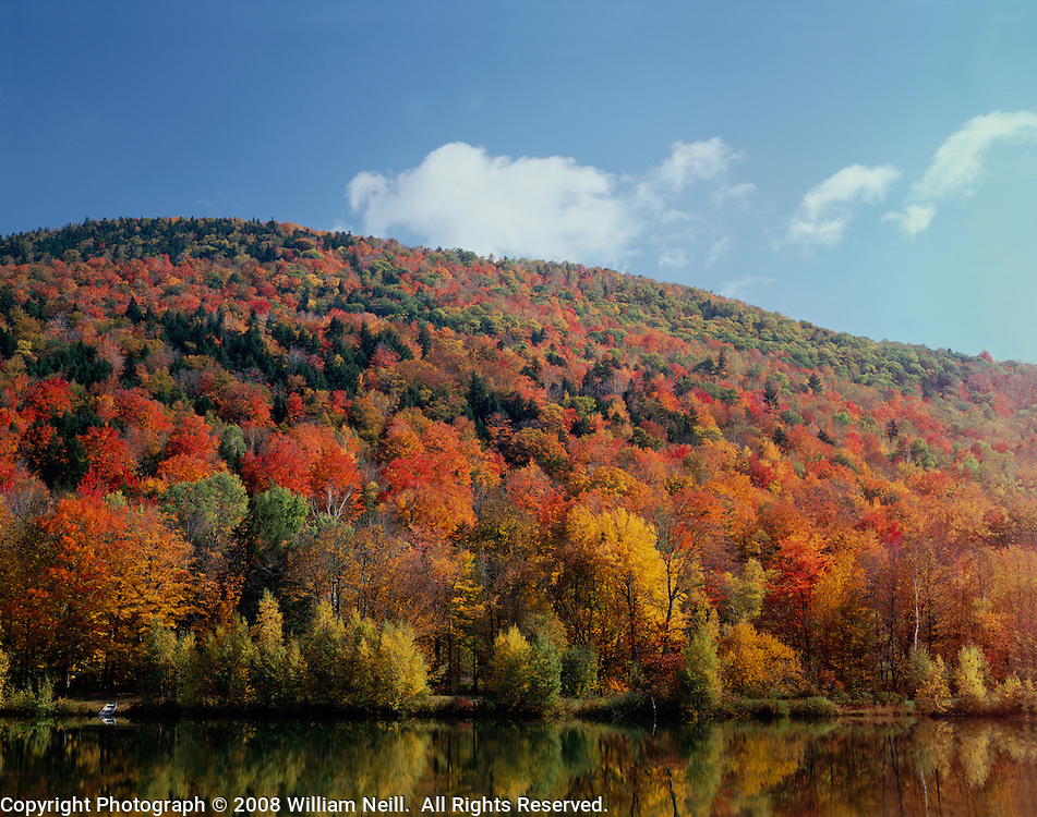 Desktop Wallpaper Fall Scenes King S Pond Autumn Green Mountain National Forest