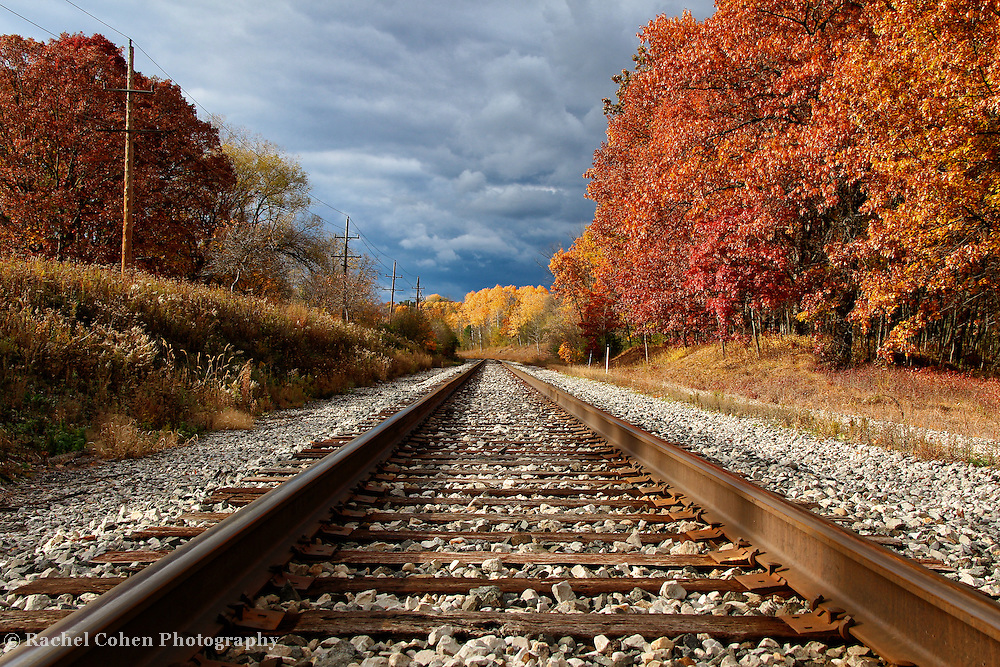 Gatlinburg In The Fall Wallpaper Train Tracks And Fall Foliage Rachel Cohen Photography