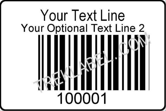 1000 Serial Bar Code Sequential Consecutive Number Labels - Code 128