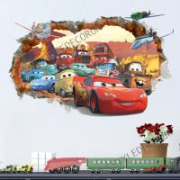 Disney Cars Planes Smashed Wall Stickers Home Decor Boys ...