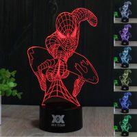 Marvel Superhero Spider Man Homecoming 3d LED Night Light ...