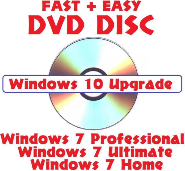 Microsoft Windows 10 Upgrade DVD W/ Win 7 Install Repair Basic Home - windows repair install