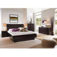 4 Pcs Queen Bedroom Furniture Set Headboard Bed Platform