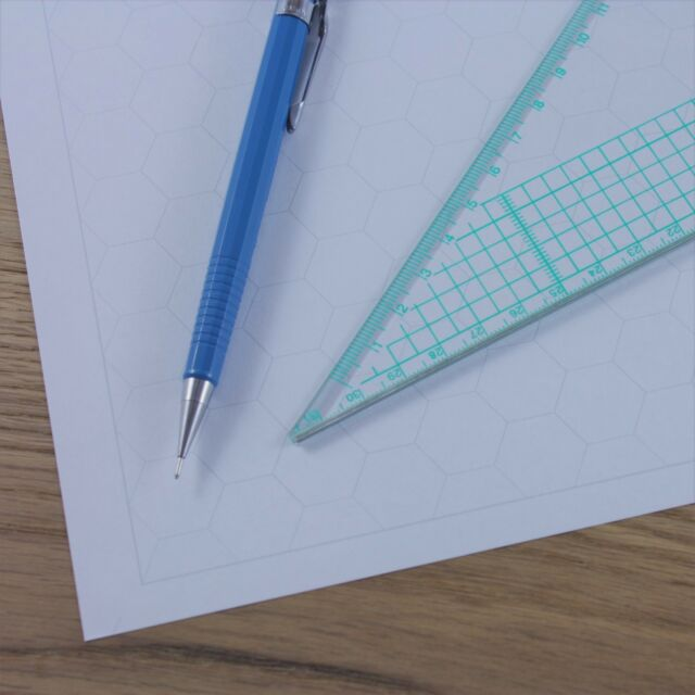 A3 Hexagon Graph Paper 20mm 2cm Grid Choice of Colour 5 to 60 Sheets